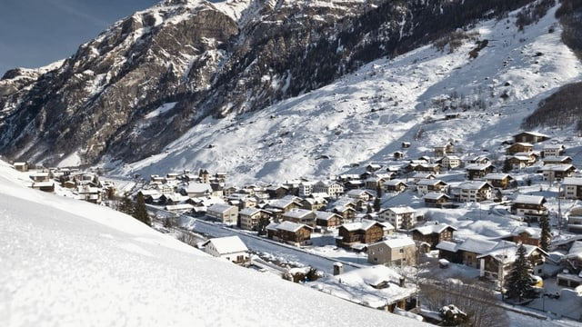 Die Gemeinde Vals im Winter