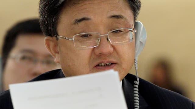 Porträt von Vize-Aussenminister Liu Zhenmin.