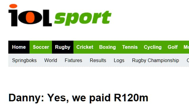 Screenshot «Independent Online, IOL»