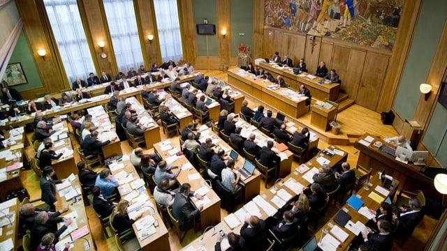 Blick ins Walliser Kantonsparlament