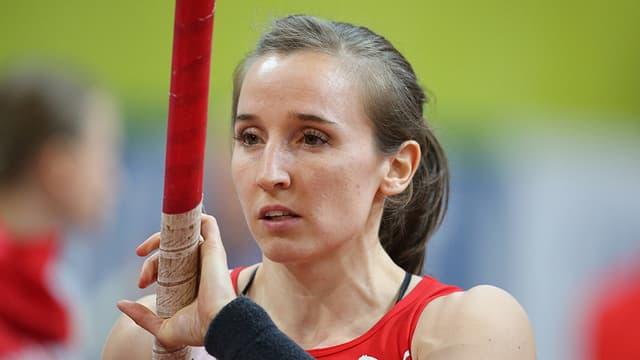Nicole Büchler in Aktion.