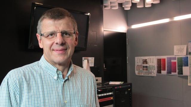Sepp Föhn im Studio von Radio SRF