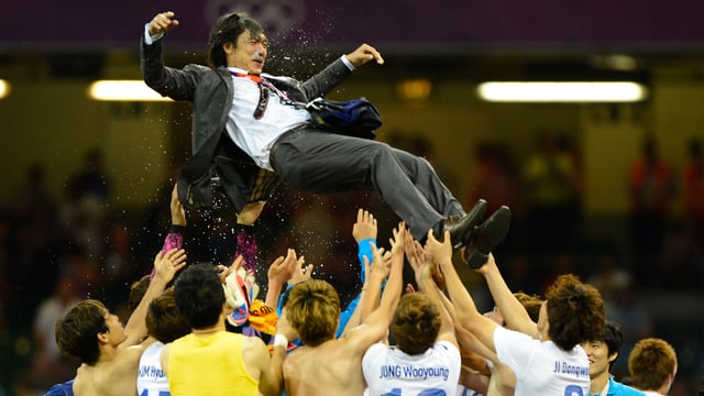 Hong Myung-bo: Der früherer Captain der «Tigers of Asia» gewann mit Südkorea 2012 zu Olympia-Silber. Jetzt soll er das Fanionteam auch in Brasilien zum Erfolg führen.