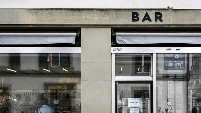 Die Buchstaben der Bar wurden kürzlich abmontiert.