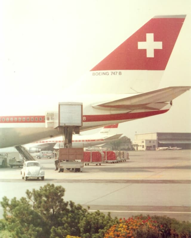Jumbojet der Swissair