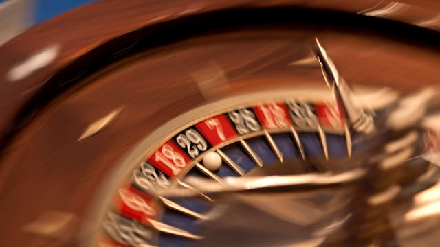 Roulette im Casino.