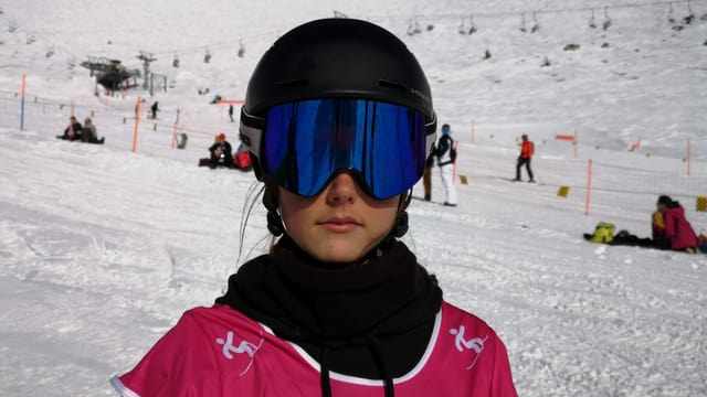 La snowboardista Mona Danuser.