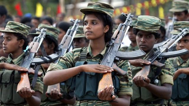 Tamilische Kämpfer wurden finanziell aus der Schweizer Diaspora unterstützt.