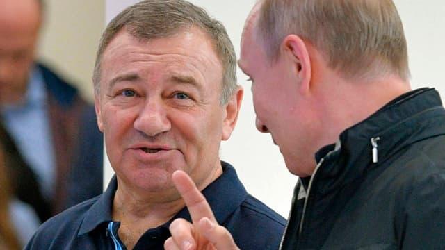 Arkadi Rotenberg im Gespräch mit Vladimir Putin