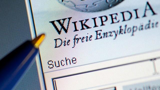 Seite von Wikipedia.