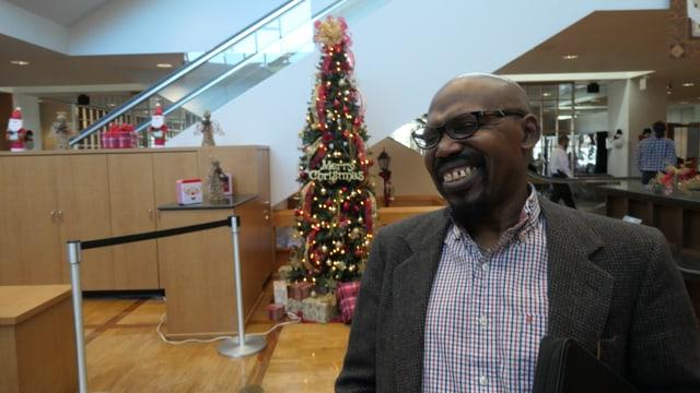Gabe Okoye ist der Vorsitzende der demokratischen Partei von Gwinnett County.