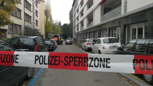 Blick in die abgesperrte Dufourstrasse in Zürich.