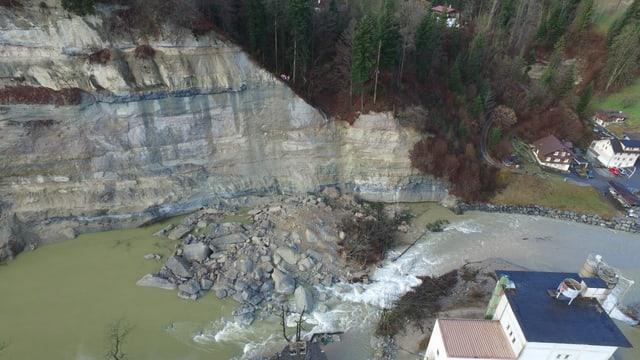 Bild der Überschwemmung im Gebiet Badflue.