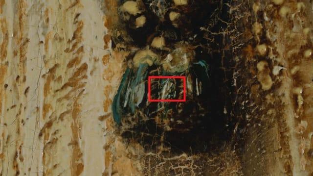 Makroaufnahme von Rembrandts «Nachtwache»
