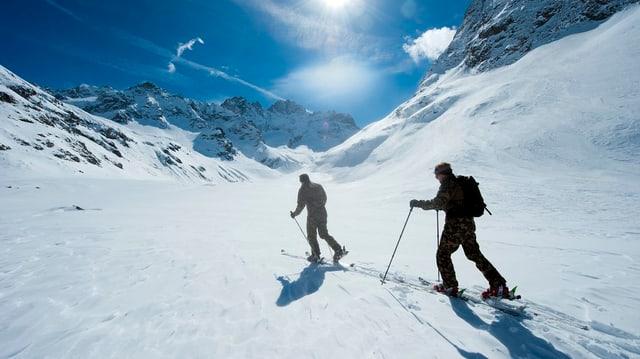 Skifahrer unterwegs