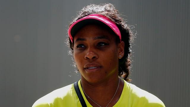 Serena Williams nach dem Training.
