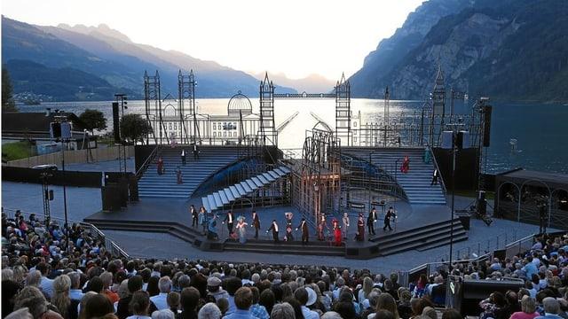 Blick auf Walensee-Bühne