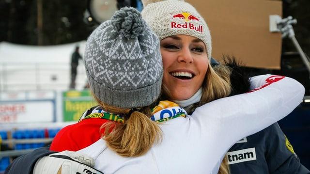 Skifahrerinnen.