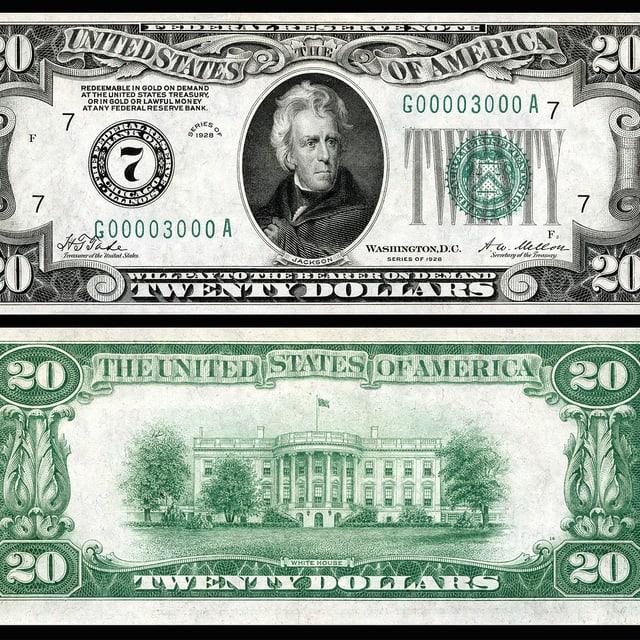 20-Dollar-Note von 1928