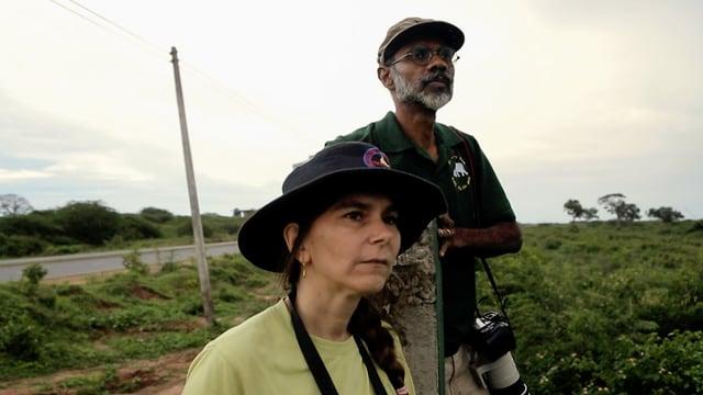 Jennifer Pastorini und ihr Mann Prithividaj Fernando sind ein erfahrenes Elefantenforscherpaar.