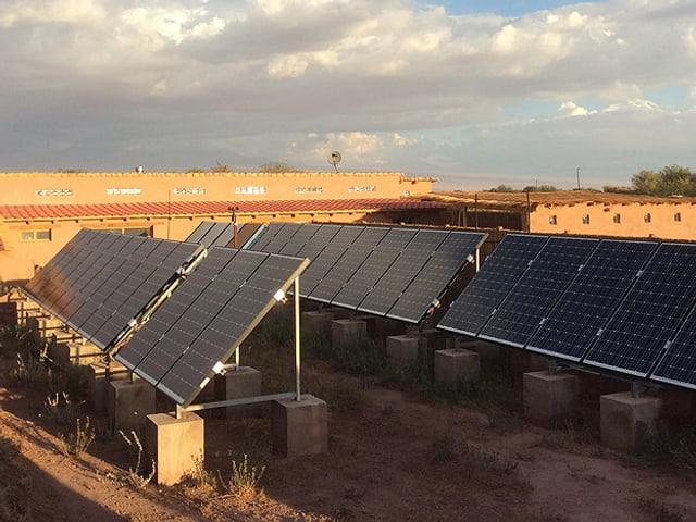 Solarpanels auf dem Grundstück von Martin Rihs.