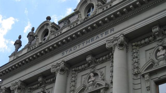 Stadttheater Bern Fassade über dem Haupteingang.