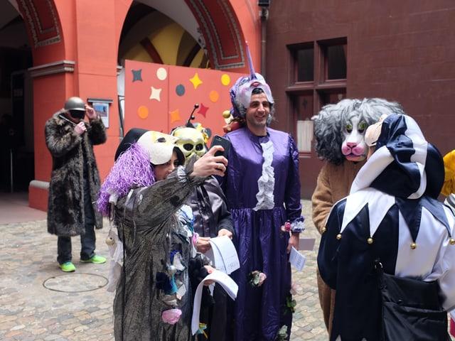 Selfie machen im Rathaus-Innenhof