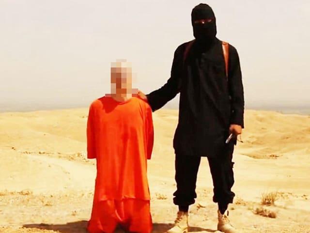 Eine Szene aus dem IS-Youtube-Video mit James Foley.