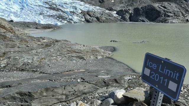 Der sich stetig zurückziehende Mendenhall-Gletscher in Juneau, Alaska, am 9. Mai.