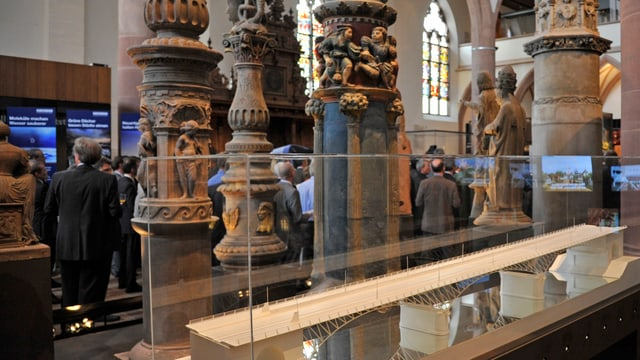 Vitrine im Museum