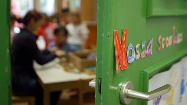 Blick in ein romanischsprachigen Kindergarten