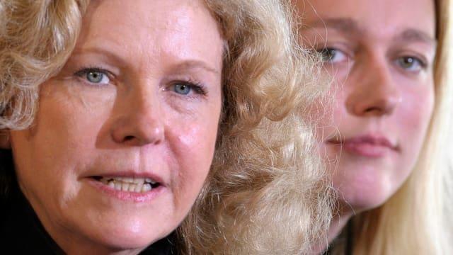 Eva Wagner-Pasquier im Vodergrund, im Hintergrnd ihre Halbschwester