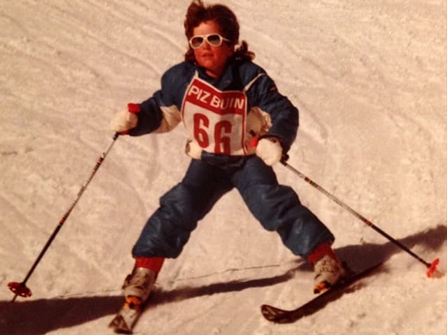Melanie Wittwer auf Ski