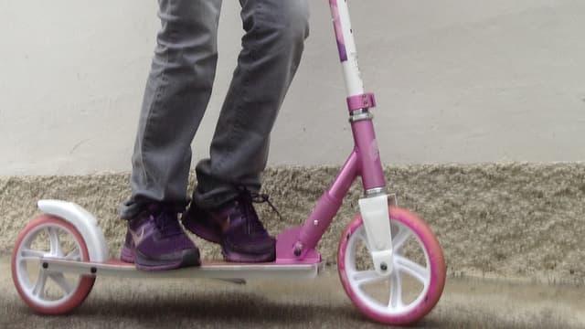 Il viadi da scola cun il scooter po esser magari privlus.
