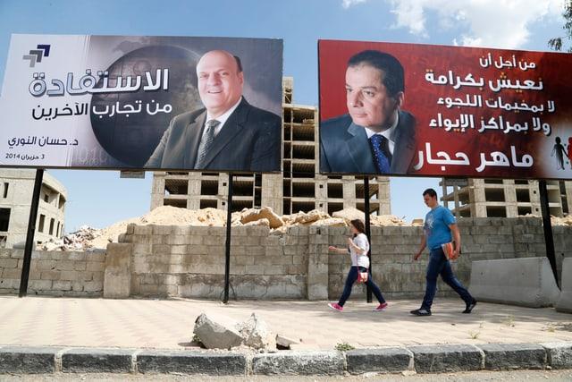 Wahlkampf in Syrien