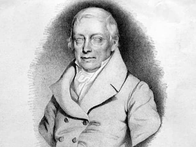 Der österreichische Komponist Joseph von Eybler in einer Lithographie von 1846.