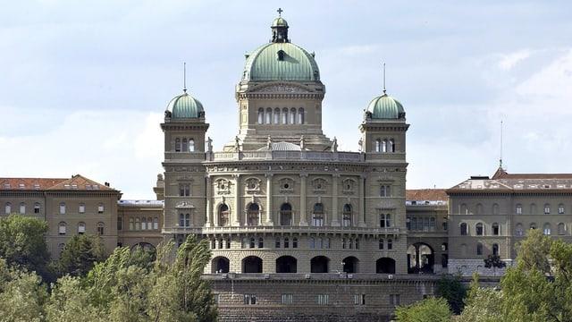 Bundeshaus in Bern, Frontalansicht.