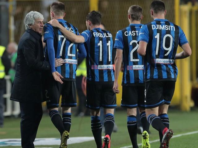 Atalanta-Trainer Gian Piero Gasperini und 4 seiner Schützlinge.
