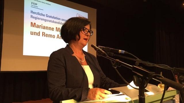 Marianne Meister bei der Nomination