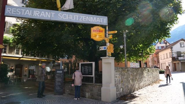 Eingang Restaurant Schützenmatt in Altdorf