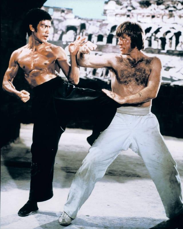 Bruce Lee gegen Cuck Norris