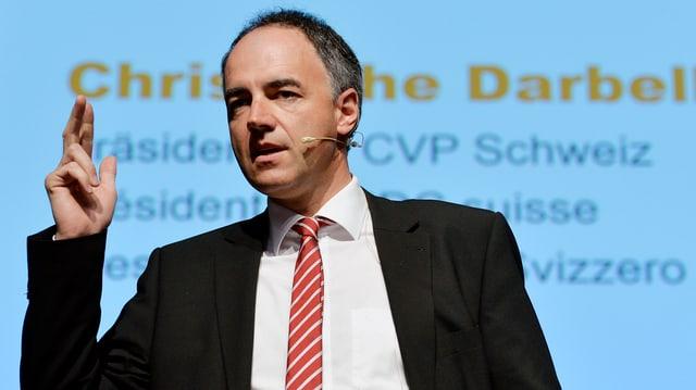 il president da la PCD, Christophe Darbellay