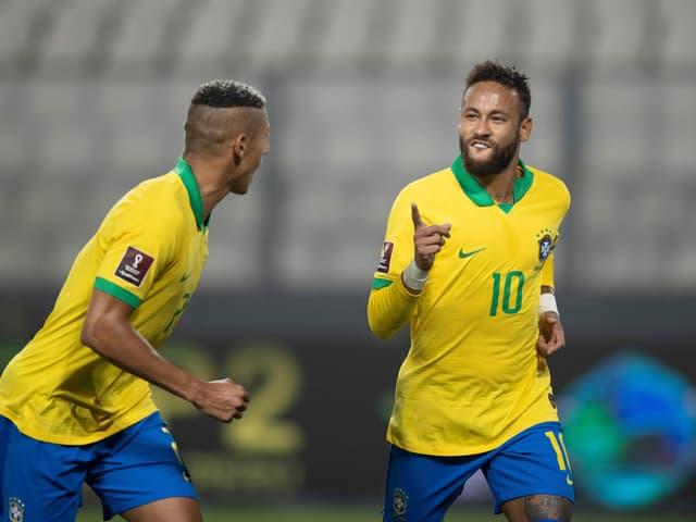 Neymar beim WM-Qualispiel in Lima.