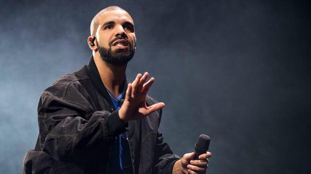 Rapper Drake auf der Bühne