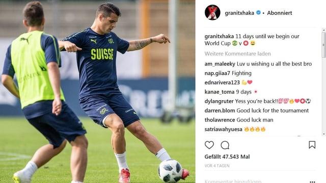 Granit Xhaka auf Instagram.
