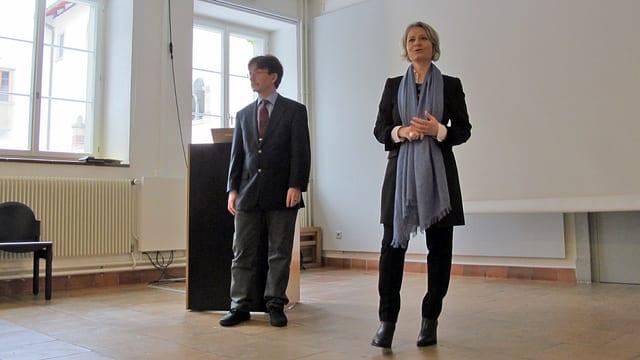 Zogen gemeinsam Bilanz: Museumsdirektorin Katharina Epprecht und ihr neuer Chef, Stadtrat Raphaël Rohner.