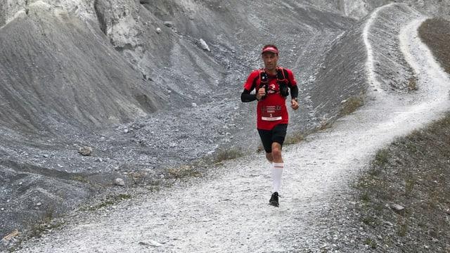 Daniel Bolt da Schiers tras la Ruinaulta.