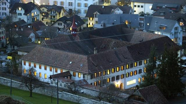 Das Klostergebäude aus der Vogelperspektive.
