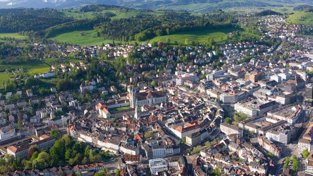 St. Gallen aus Vogelperspektive