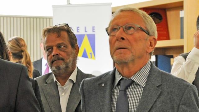 Wolfgang Schibler im Wahlkeller